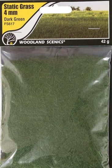 Woodland Scenics FS617, Pasto estático 4 mm, verde oscuro