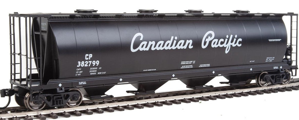 Walthers 9107815, Cylindrical Hopper 59' CANADIAN PACIFIC