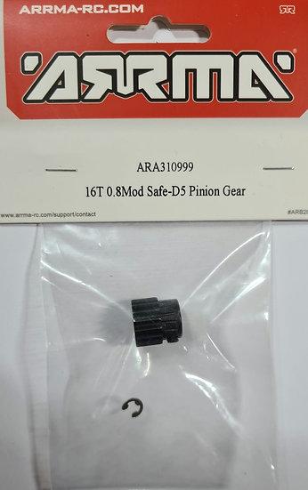 Arrma ARA310999, 16T pinion gear 0.8Mod Safe D5
