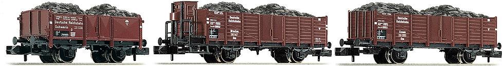 FLEISCHMANN 820803. Set de carros transporta carbón, DR