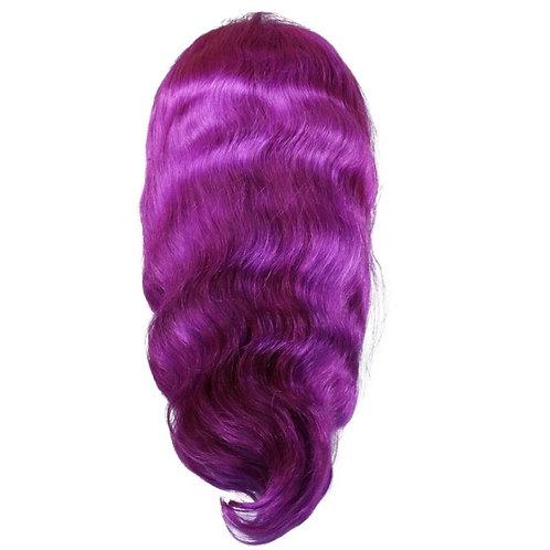 Remy Lush Purple Front Lace Wig