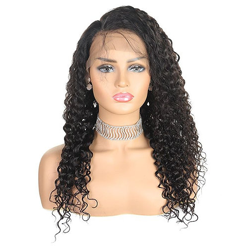 Virgin Brazilian Deep Wave Lace Front Wig