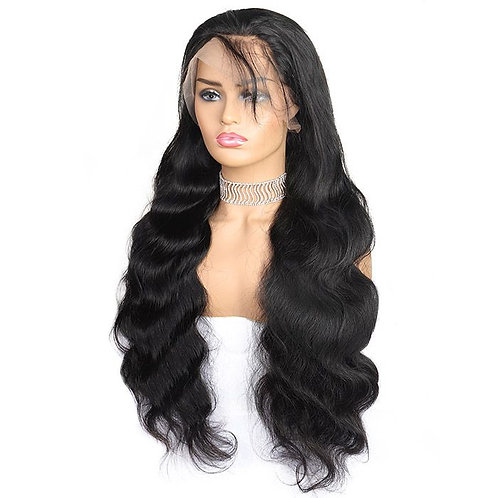 Virgin Brazilian Body Wave Transparent Lace Front Wig