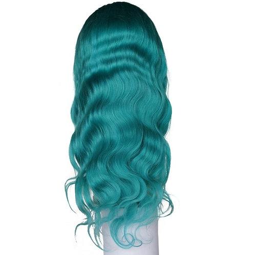 Remy Aqua Blue Front Lace Wig