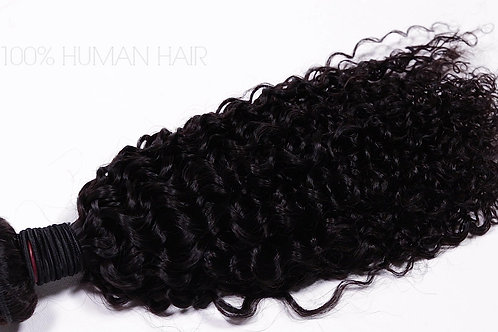 Virgin Kinky Curly Bundle and Closure Deal