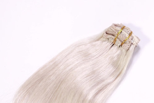 Remy Platinum Blonde Clip-In (#60)