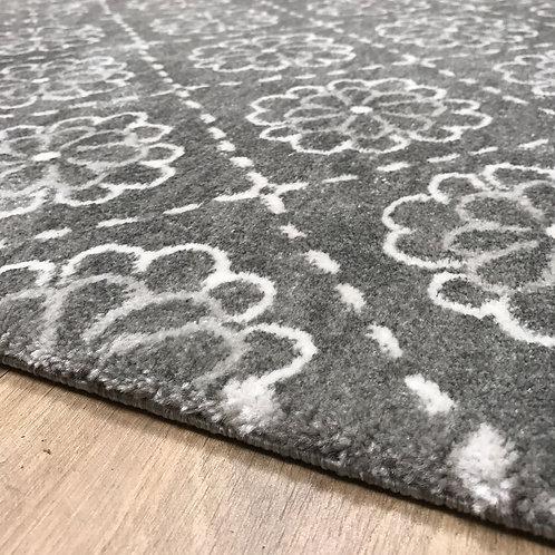 Rascala Flowers Grey Light Grey Edge 160x230cm