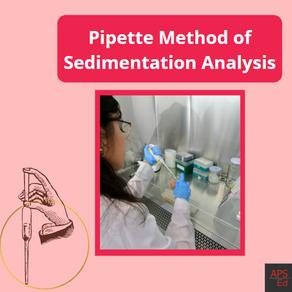 Pipette Method of Sedimentation Analysis | Stoke's Law
