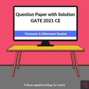 GATE 2021 Civil Engineering | Question Paper with Solution