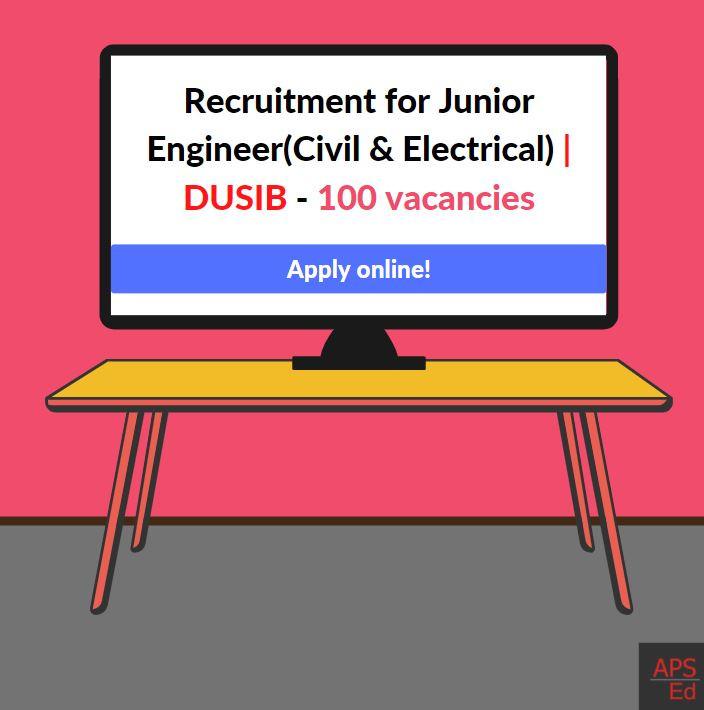Govt Delhi Urban Shelter Improvement Board (DUSIB) Jobs