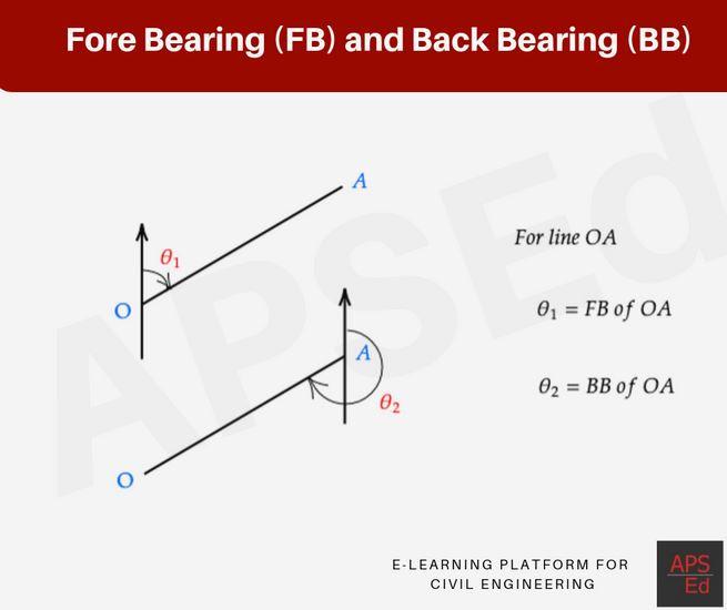 Fore bearing and back bearing