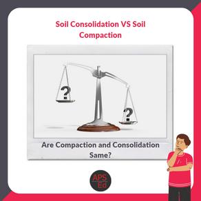 Soil Compaction Versus Soil Consolidation