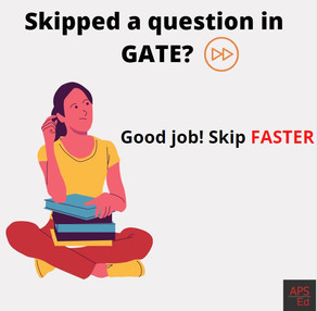 Can I skip questions in GATE?