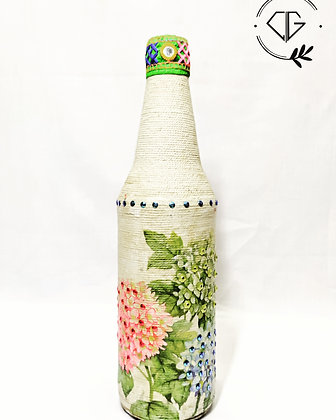 Decoupage DIY bottle -3