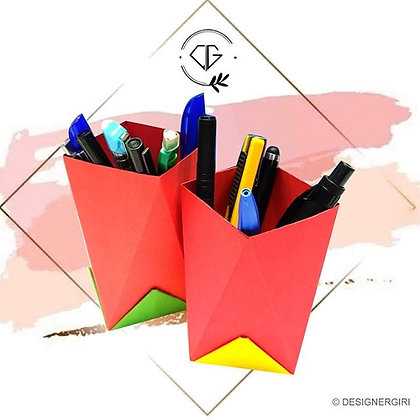 PAPER CRAFT PEN STAND - HOME / OFFICE UTILITY