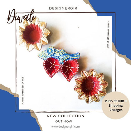 Exquisite Diya -Flower Diya Set