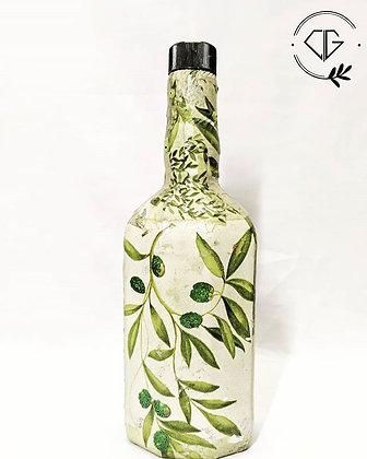 Decoupage DIY bottle