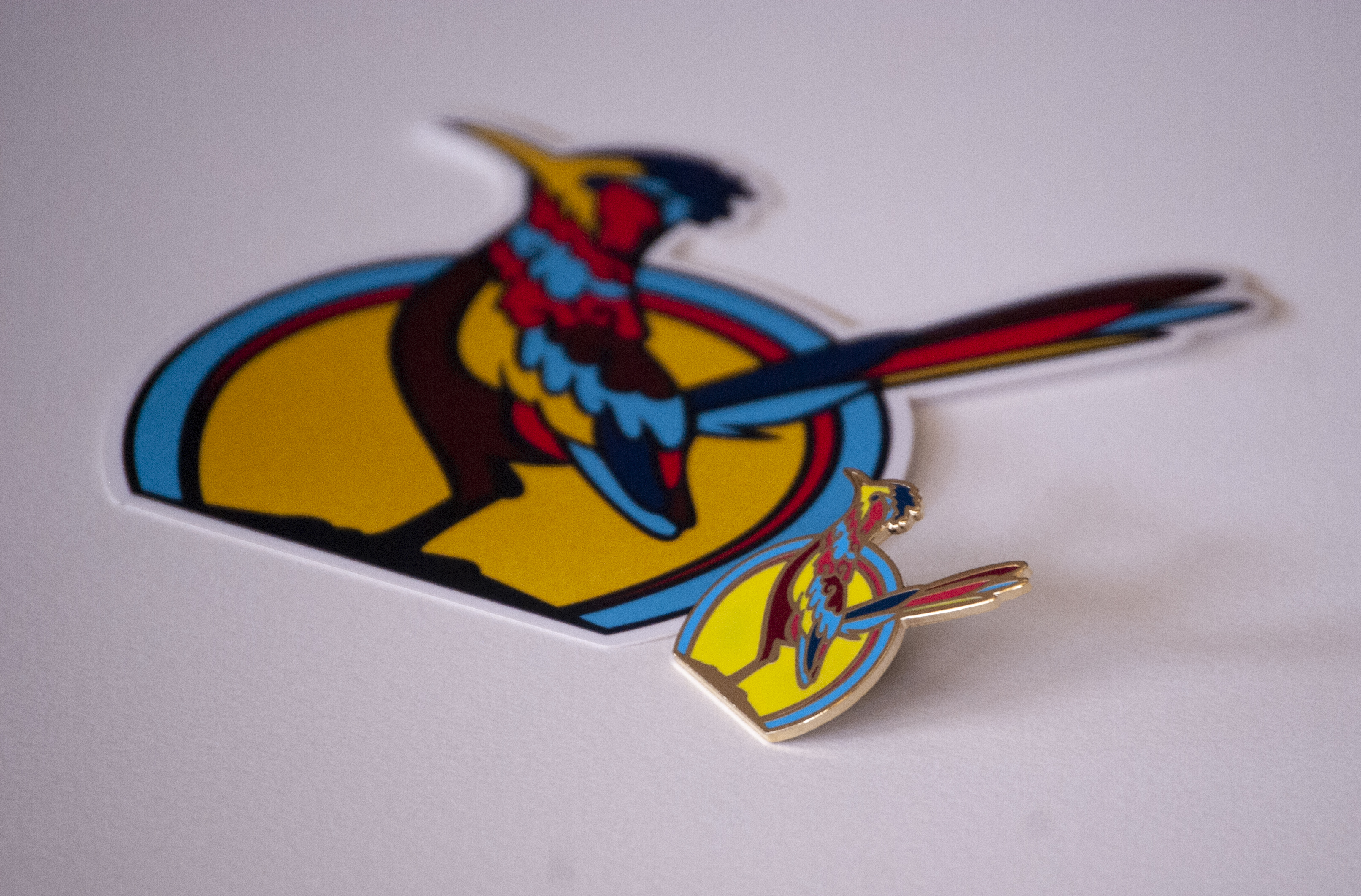 Roadrunner Sticker and Hard Enamel Pin