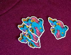 Prickly Pear and Gray Foxes Stickers