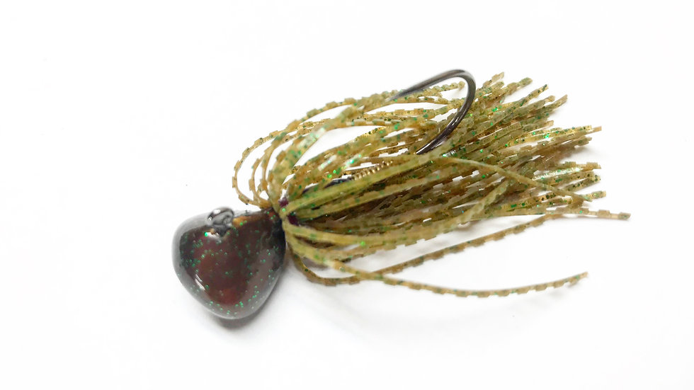 Nishine Finesse Football Jig - Pumpkin Pepper green flake