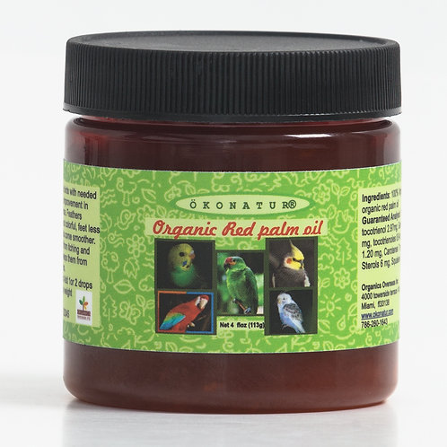Organic Red palm oil for birds 4oz