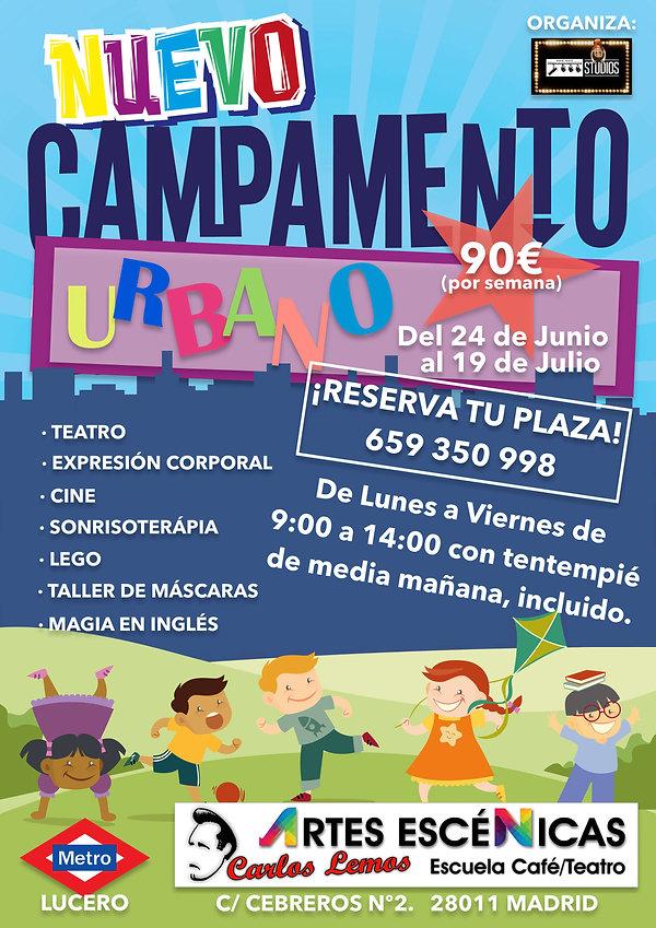 CAMPAMENTO URBANO CENTRO DE ARTES ESCENI