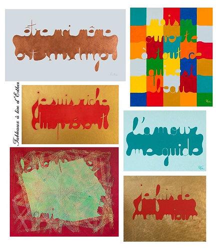 Ensemble de 6 cartes - II -   (10,5x14,8 cm.)