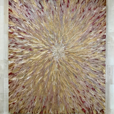 """Aster for Vincent"" - 37.5"" x 32"""