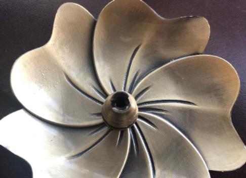 Flower Incense Holder for Incense Sticks, Cones | Meditation