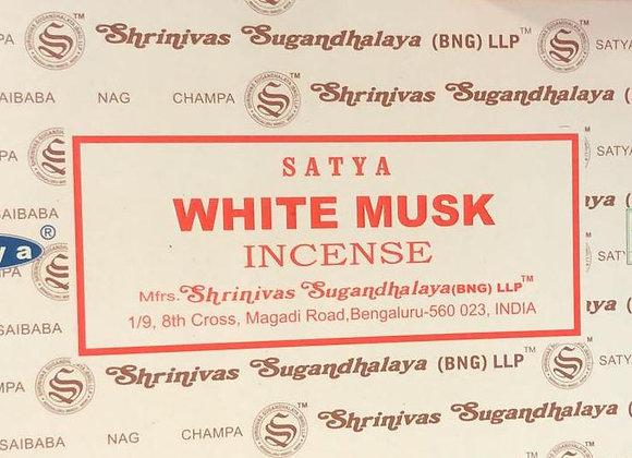 WHITE MUSK Satya Nag Champa - Indian Incense Sticks