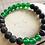 Thumbnail: OGUN Bracelet | Green Jade + Natural Black Lava Beads