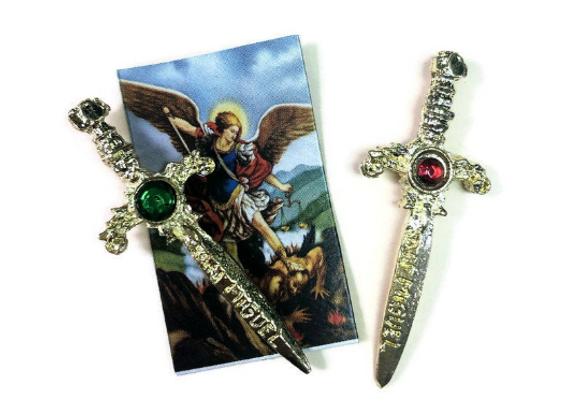 Archangel St. Michael Sword Amulet   Espada de San Miguel