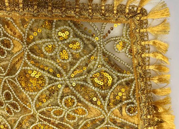 OSHUN Pañuelo   Transparent Santeria Altar Cloth