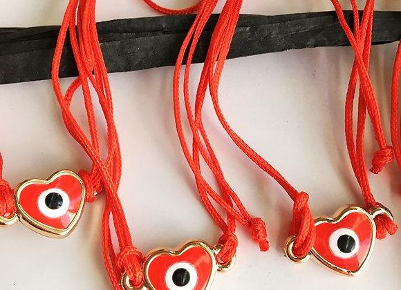 Evil Eye Red Protection Bracelet Against Envy - (3 Units)