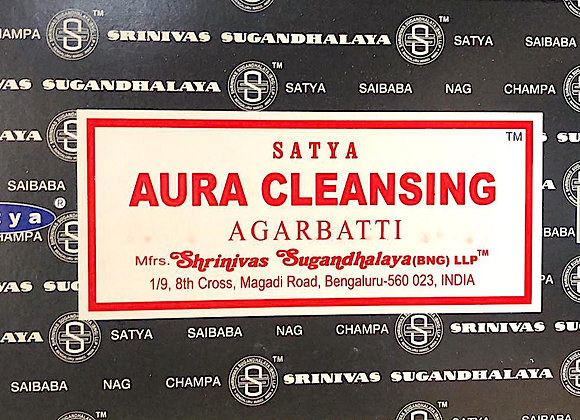 AURA CLEANSING Satya Nag Champa - Indian Incense Sticks - Bulk Incense