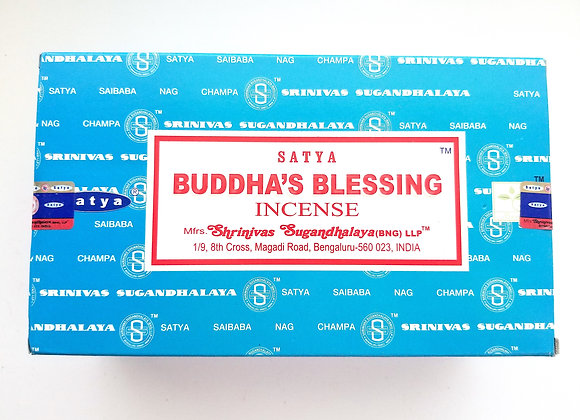 BUDDHA'S BLESSING Satya Nag Champa - Indian Incense Sticks - Bulk Incens