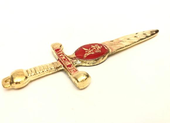 San Miguel Espada Amulet | Archangel Michael Sword Amulet | Protection, Truth, C