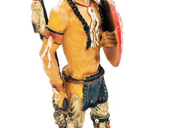 "12"" Indian Warrior Statue | Native American Warrior Figure"