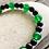 Thumbnail: OGUN Ilde / Bracelet | Green Jade + Black Obsidian Beads