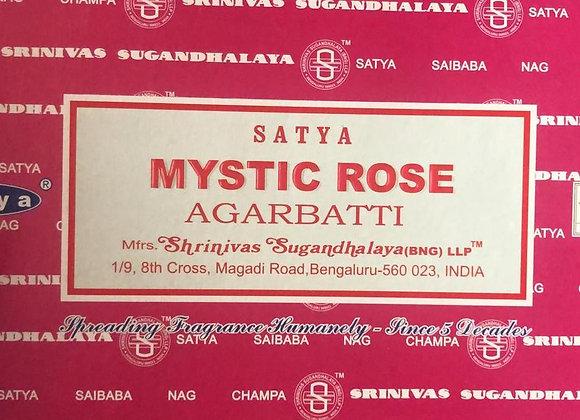 MYSTIC ROSE Satya Nag Champa - Indian Incense Sticks - Bulk Incens