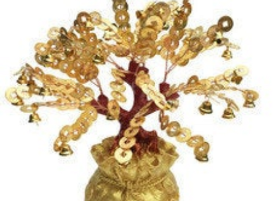 Gold Money Tree Gift | Chinese Coin Feng Shui Tree
