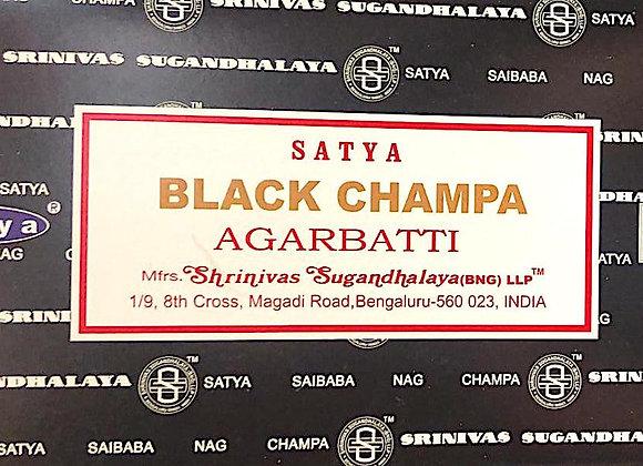 BLACK CHAMPA Satya Nag Champa - Indian Incense Sticks
