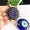 Thumbnail: Evil Eye Protection + Blue Rhinstone Turtle Amulet Charm