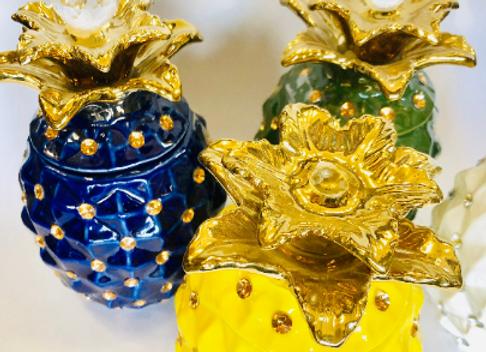 Pineapple Pots | Piña Potiches de Ogun, Oshun, Yemaya, Obatala