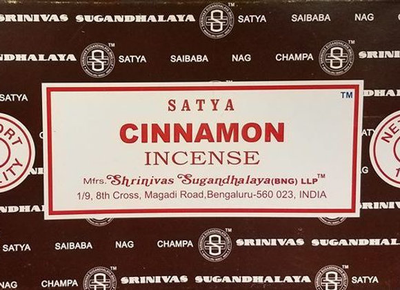 CINNAMON Satya Nag Champa - Indian Incense Sticks - Bulk Incense
