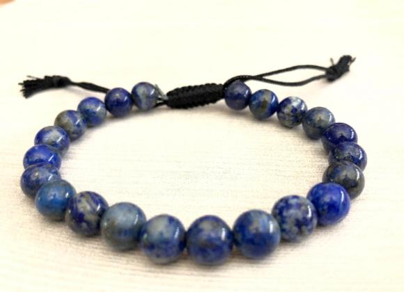 Lapis Lazuli Crystal Cord Bracelet | Pulsera Lapis Lazuli