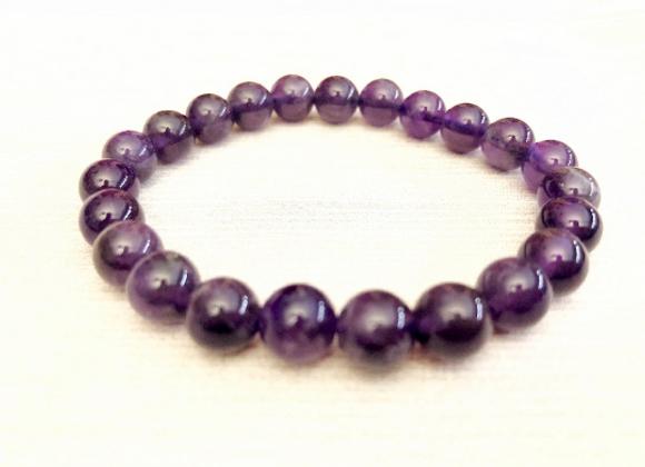 Amethyst Crystal Elastic Bracelet | Pulsera Amatista