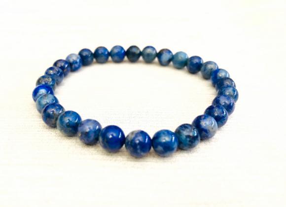 Lapis Lazuli Crystal Elastic Bracelet | Pulsera Lapis Lazuli