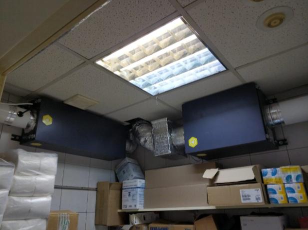 Система приточной и вытяжной вентиляции с воздуховодами