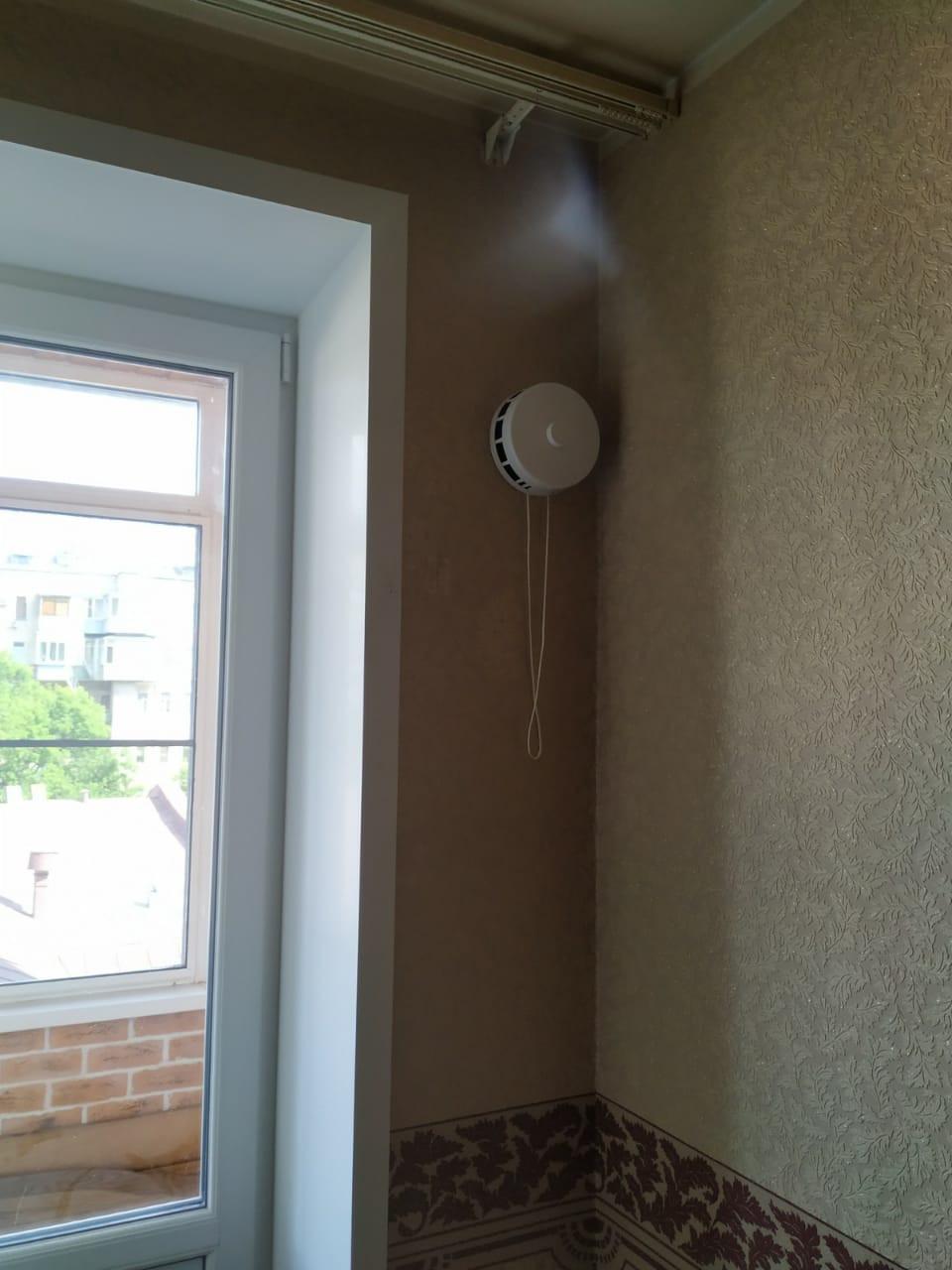 Клапан КПВ-125, вид из комнаты